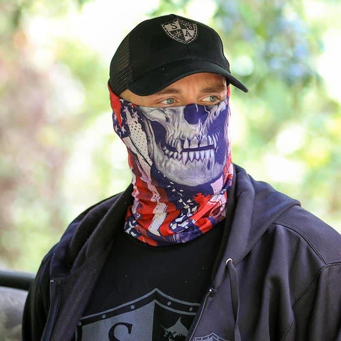Бафф с изображением черепа на фоне американского флага