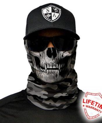 Бафф Grey Military Camo Skull