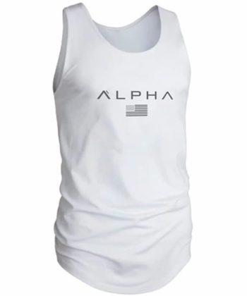 Майка мужская ALPHA белого цвета