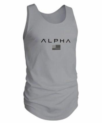 Майка ALPHA мужская серого цвета