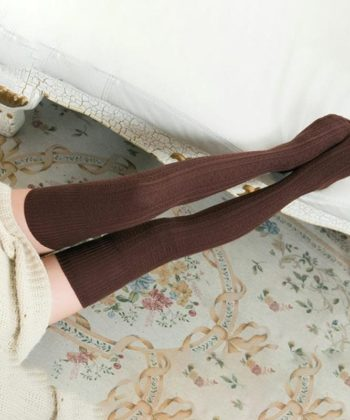 Теплые чулки коричневые