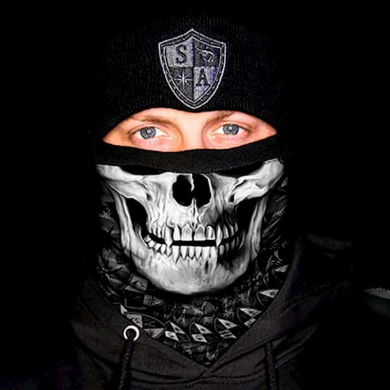 Флисовый бафф Raven Skull